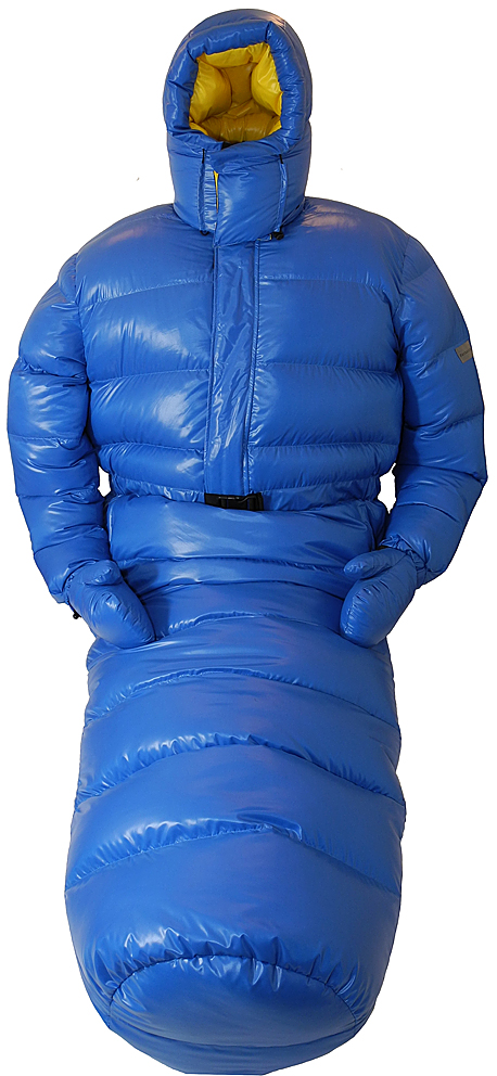 Down Overall Suitbag Sea Blue Shiny With Arctic Hood Big