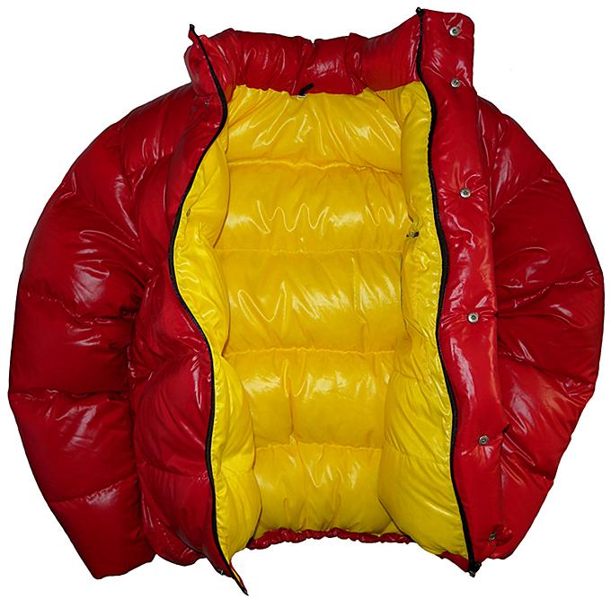 Daunenshop Parkasite - down jacket Vinland red shiny inner big